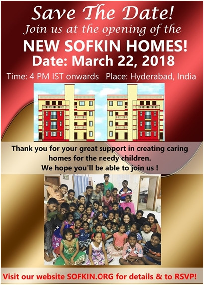 Invitation to opening of the New SOFKIN Homes