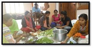 Preparing meals for Poor