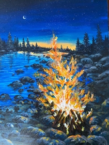Camping at dusk 16x20 newsletter