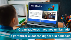 Llamado al sector privado para garantizar el acceso digital a la educación