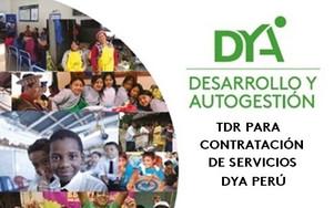 Contratación de servicios para DYA Perú