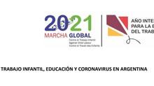 Informe Trabajo Infantil, Educación y Coronavirus en Argentina