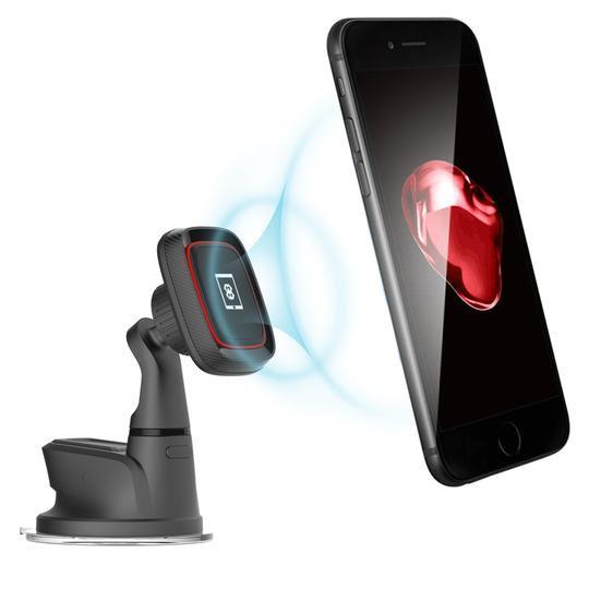 Mega Mounts Carbon Adjustable Universal Windscreen Magnetic Phone Mount