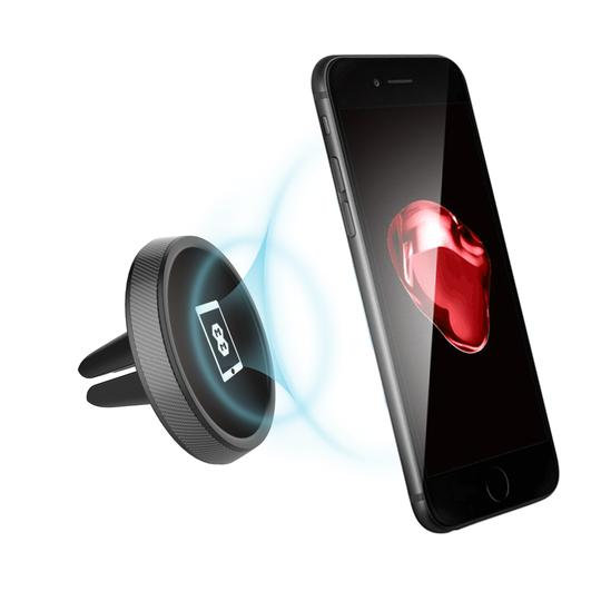Mega Mounts Carbon Round Mini Universal Magnetic Air Vent Phone Holder