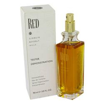 Red Eau De Toilette Spray (Tester) By Giorgio Beverly Hills 90 ml