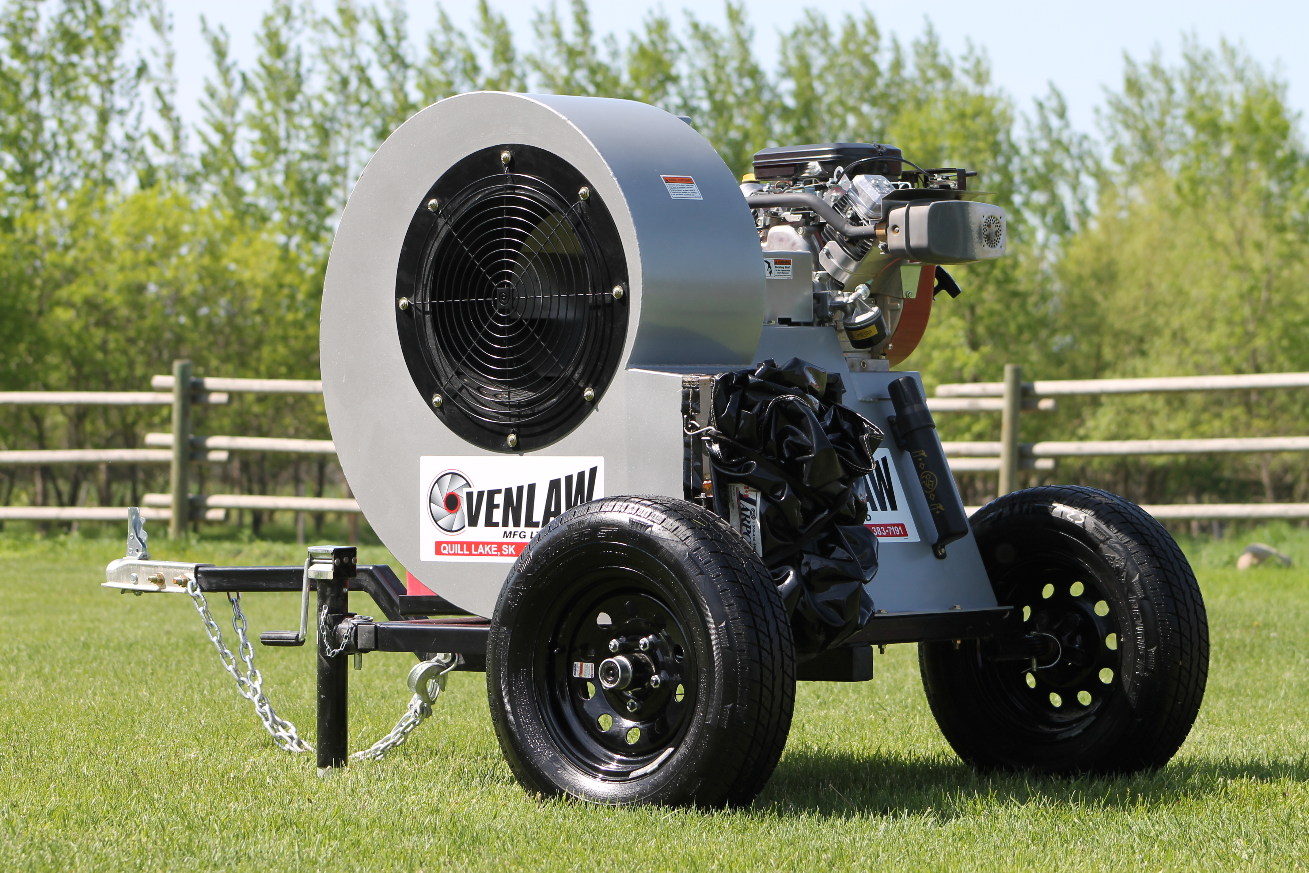 Gas Powered Aeration Fan