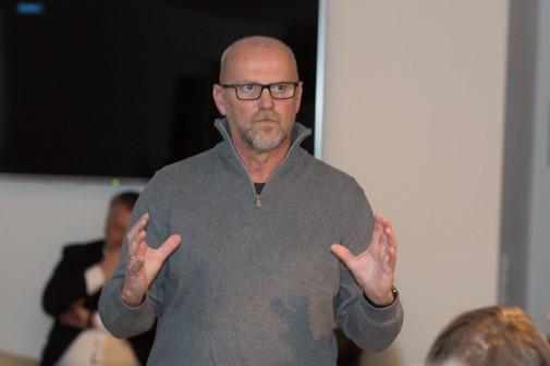 Thomas Schaaf bei seinem Vortrag