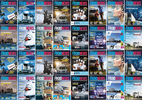 Couvertures magazines Froid News, Nouveaux Horizons