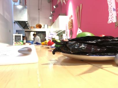 Aura Cocina Mexicana | Cooking Class | Mexico City | Mastering Mexican Salsas Cooking Class | Working Table