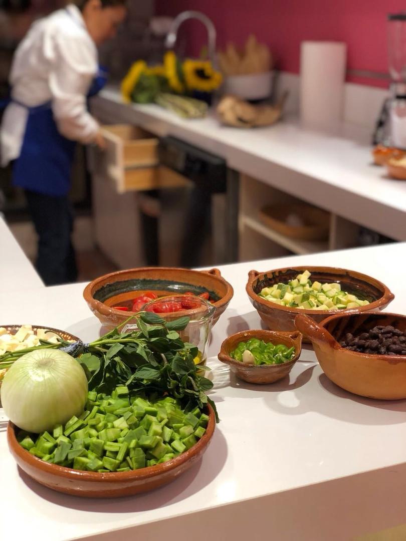 Aura Cocina Mexicana | Cooking Class | Mexico City | Mastering Mexican Salsas Cooking Class | Salsas Ingredients