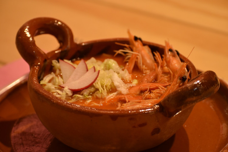 Aura Cocina Mexicana   Cooking Classes   Mexico City   Mexican Seafood hands-on Cooking Class   Shrimp Pozole