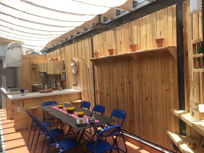 "Aura Cocina Mexicana | Cooking Classes | Mexico City | Mexican Seafood hands-on Cooking Class | Aura's Terrace ""El Tendedero"""