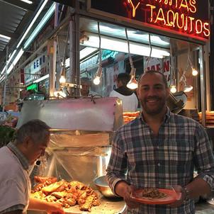 Aura Cocina Mexicana   Market Tour   Mercado de Medellin   Carnitas Stand