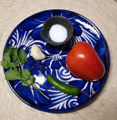 Ingredientes Salsas Mexicana