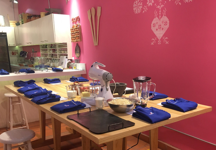 Aura Cocina Mexicana | Cooking Classes | Mexico City | Vegan Mexican hands-on Cooking Class | Working Table
