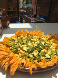 Aura Cocina Mexicana | Cooking Classes | Authentic Mexican Cooking Class | Zucchini Flower Salad