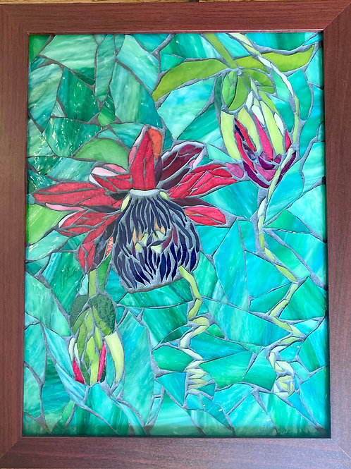 Passionflower Glass Mosaic Art