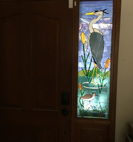 Stained glass sidelight window