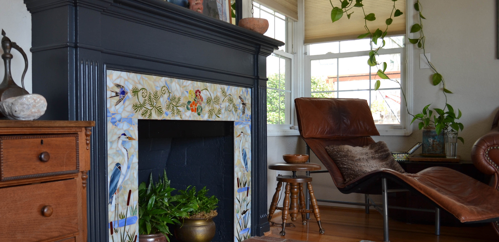 Another view of fireplace