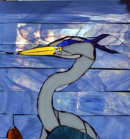 Detail, heron head