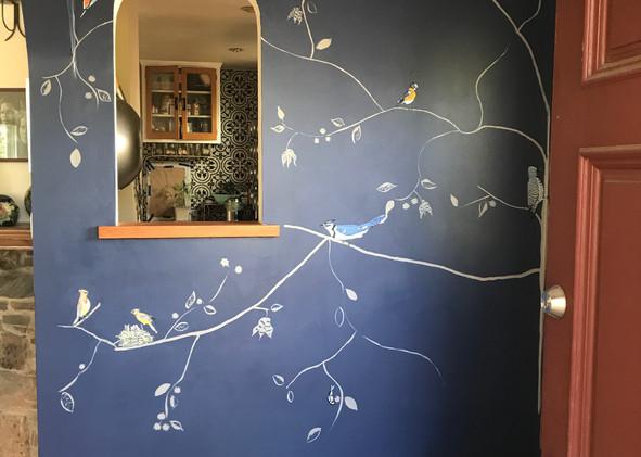 Full wall, entryway mural