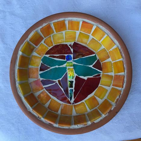 mosaic dragonfly jewelry dish