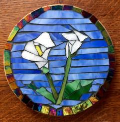 mosaic calla lily trivet
