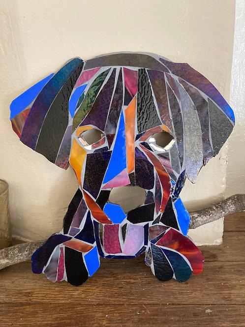 Puppy Dog Mosaic Art