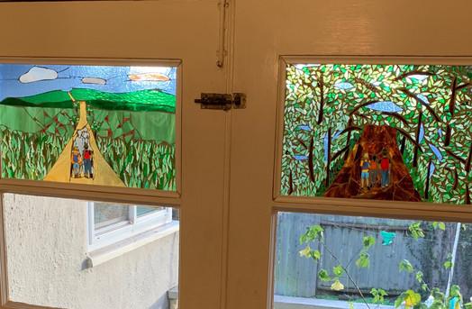 Both panels in french door