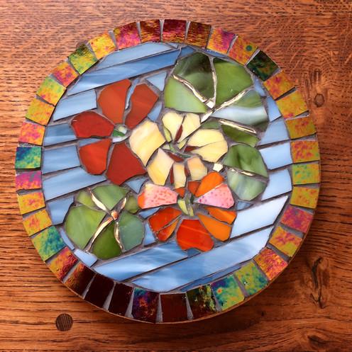 mosaic nasturtium trivet