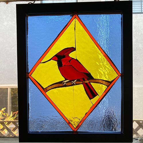 Cardinal Stained Glass Mosaic