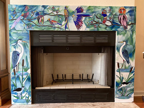 CUSTOM Fireplace Surround Mosaic; you customize your own design and size