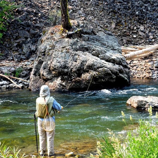 Enjoying a peaceful moment along Big Creek