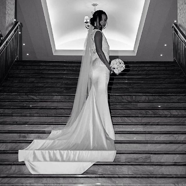 • D I V I N E • Gorgeous bride Jannette married in her Marquise Bridal Atelier gown this week, and i