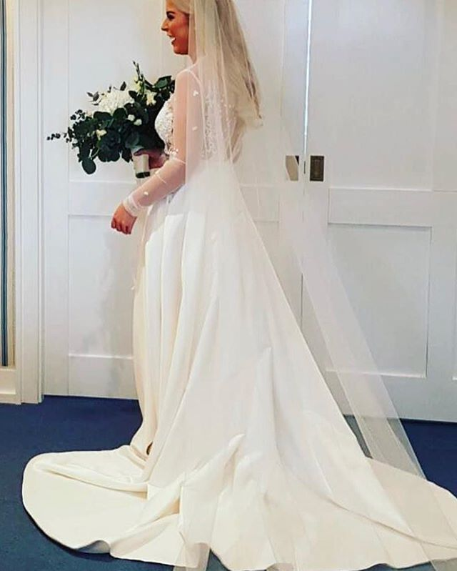 Flashback to when this beauty got married in her custom designed skirt, with pockets, and hand appli