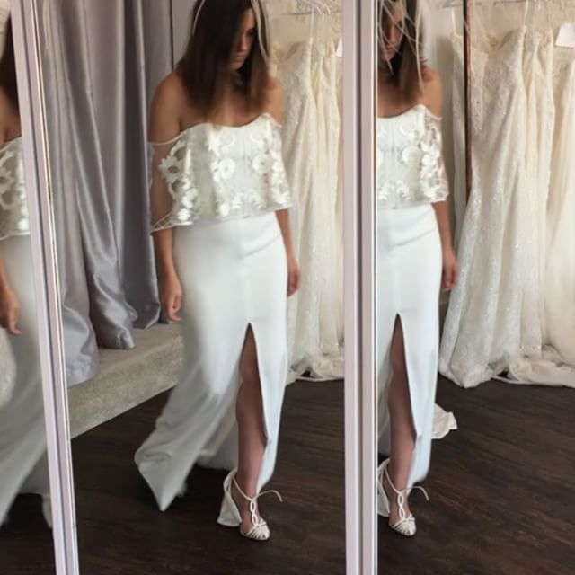 M O R O C C O on the beautiful Jemma _haloandwrenbridal Happy Sunday ✌🏼