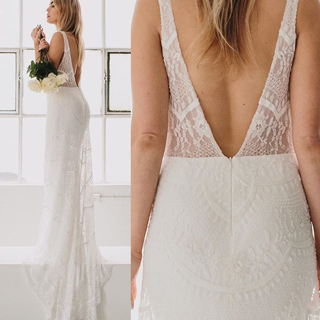 A R L O Gown is fully beaded and not for the faint heart hearted with its plunging neckline double s