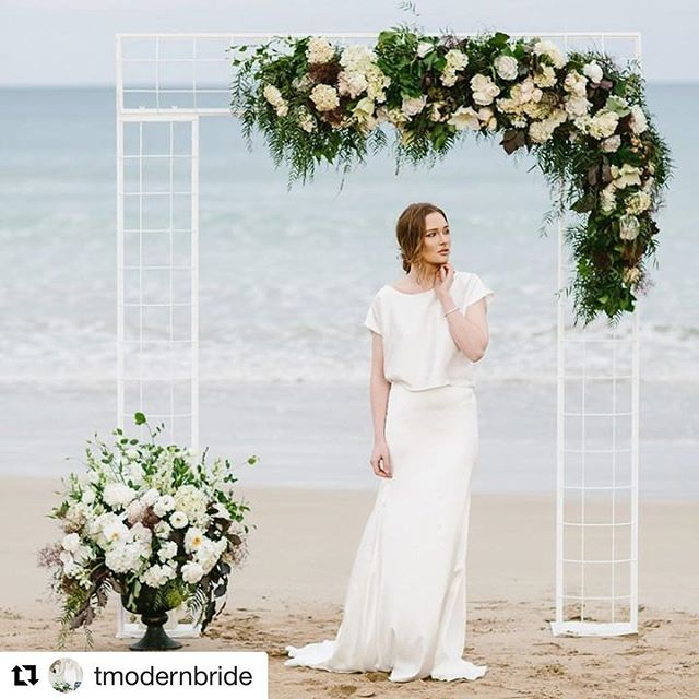 We are equally excited to see our gowns on your beautiful brides! #Repost _tmodernbride with _repost
