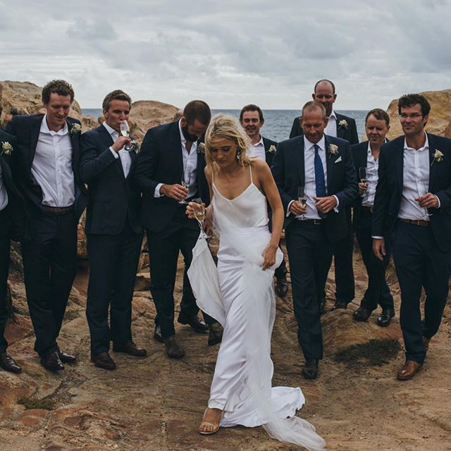 Epic pic by _vargamurphy of epic bride Katie in her silk Silk can bodysuit and customised Silk Selen