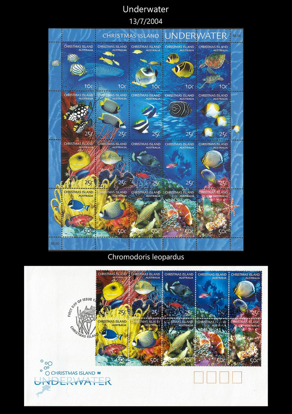 Christmas Island 3 Stamps & FDC