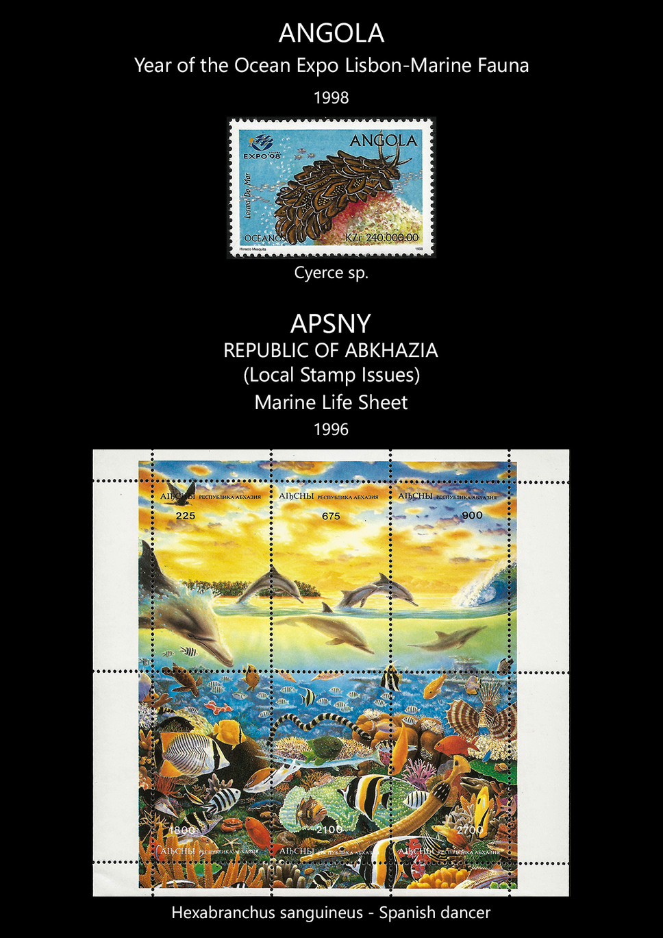 angola + apsny Stamps & FDC