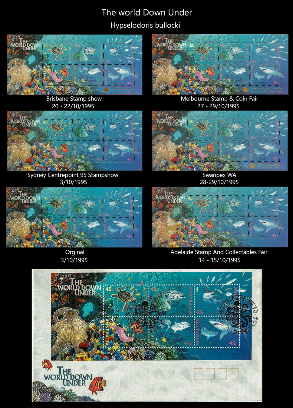 AUSTRALIA 3 Stamps & FDC