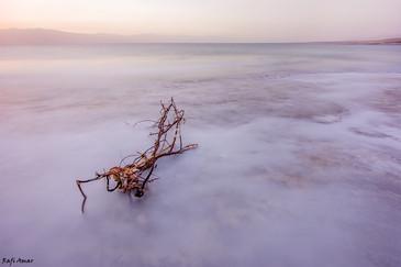 Sunrise in the Dead Sea