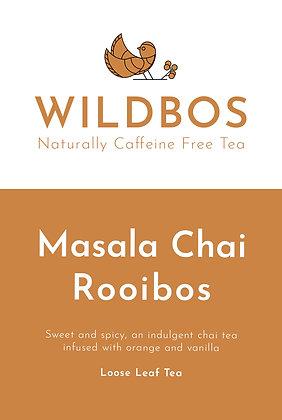 masala chai rooibos tea label for online UK shop