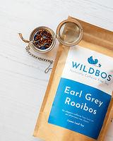 rooibos earl grey tea with blue packaging