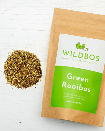 green rooibos tea with online tea shop packaging