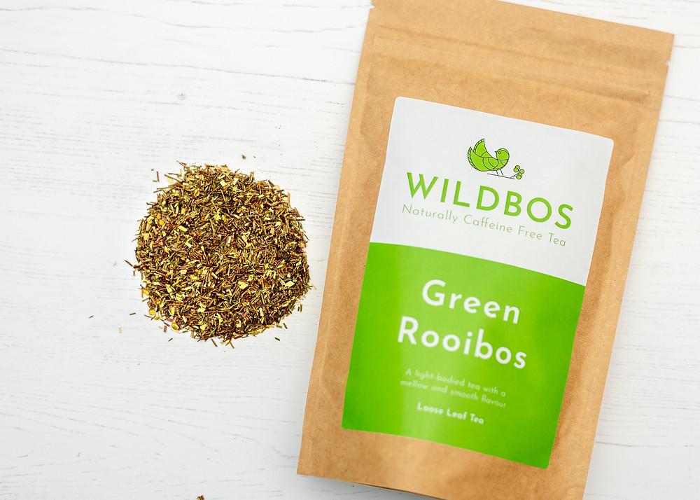 Loose leaf green rooibos tea