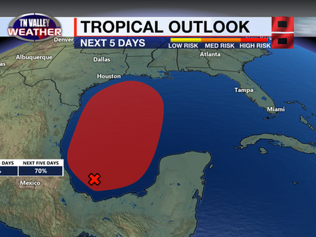 Sunny skies and lower humidity ahead.  Rain chances return by the weekend.  Watching the tropics.