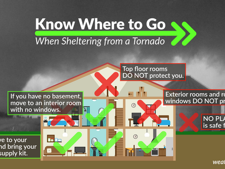 2021 Severe Weather Awareness: Week 1 - Day 4: Tornado and Severe Thunderstorm Safety