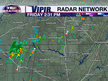 Thunderstorms scattered around.  Humidity has returned.  Hotter temperatures early next week.